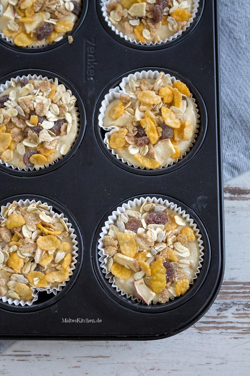 Muffins mit Müsli zum Frühstück