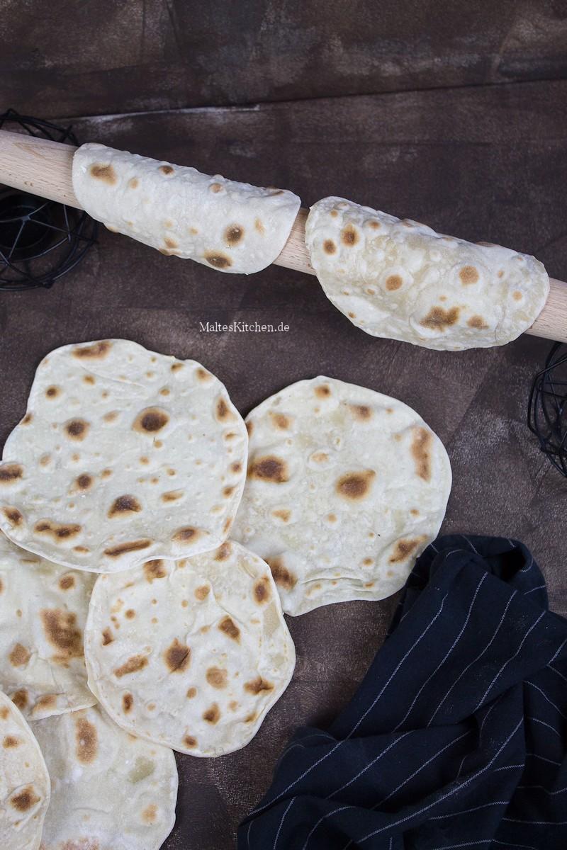 Selbst gebackene Tortillas