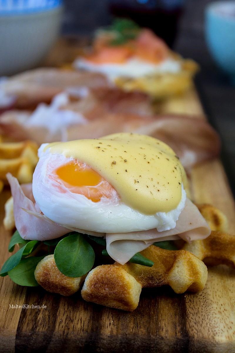 Waffeln Eggs Benedict
