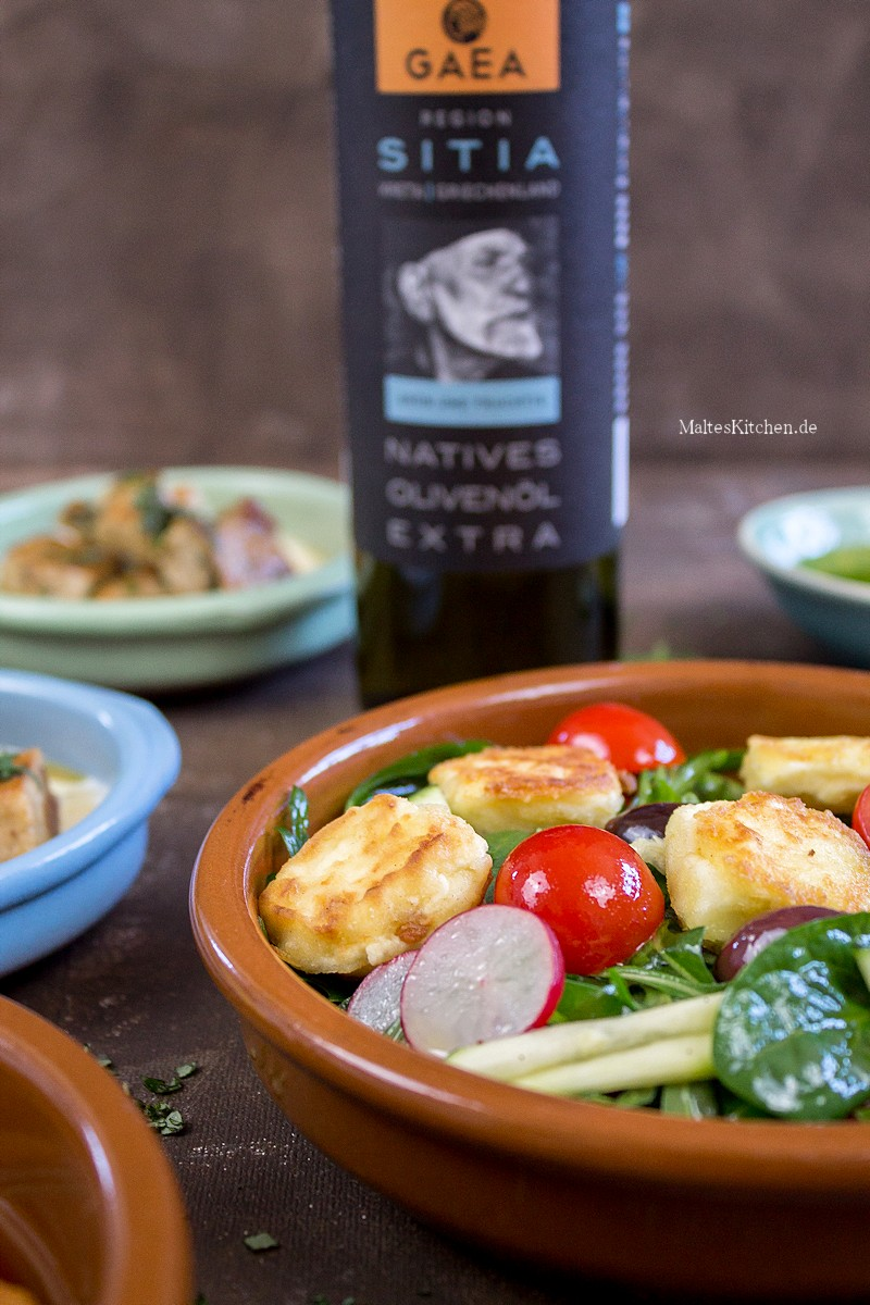 Knackiger Salat mit Feta