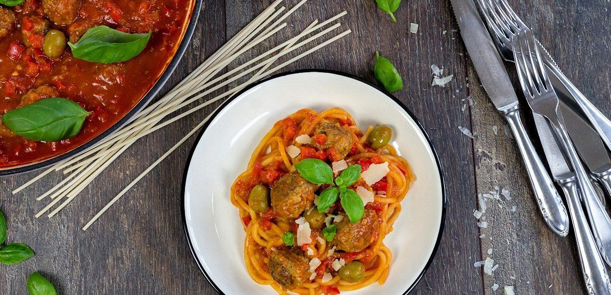 Rezept für Fleischklösschen mit Spaghetti