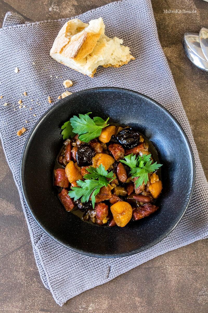 Eintopf mit Chorizo und Aprikose