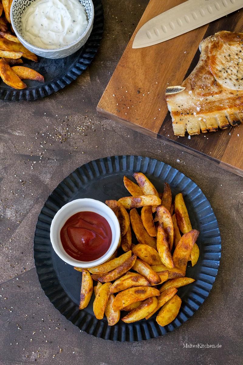 Knusprige Kartoffelecken aus dem Ofen