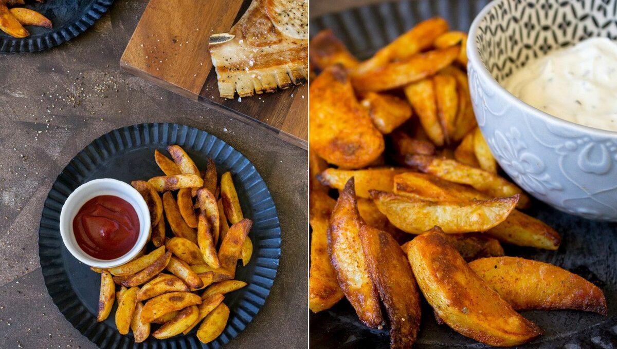 Rezept für Kartoffelecken - Potato wedges