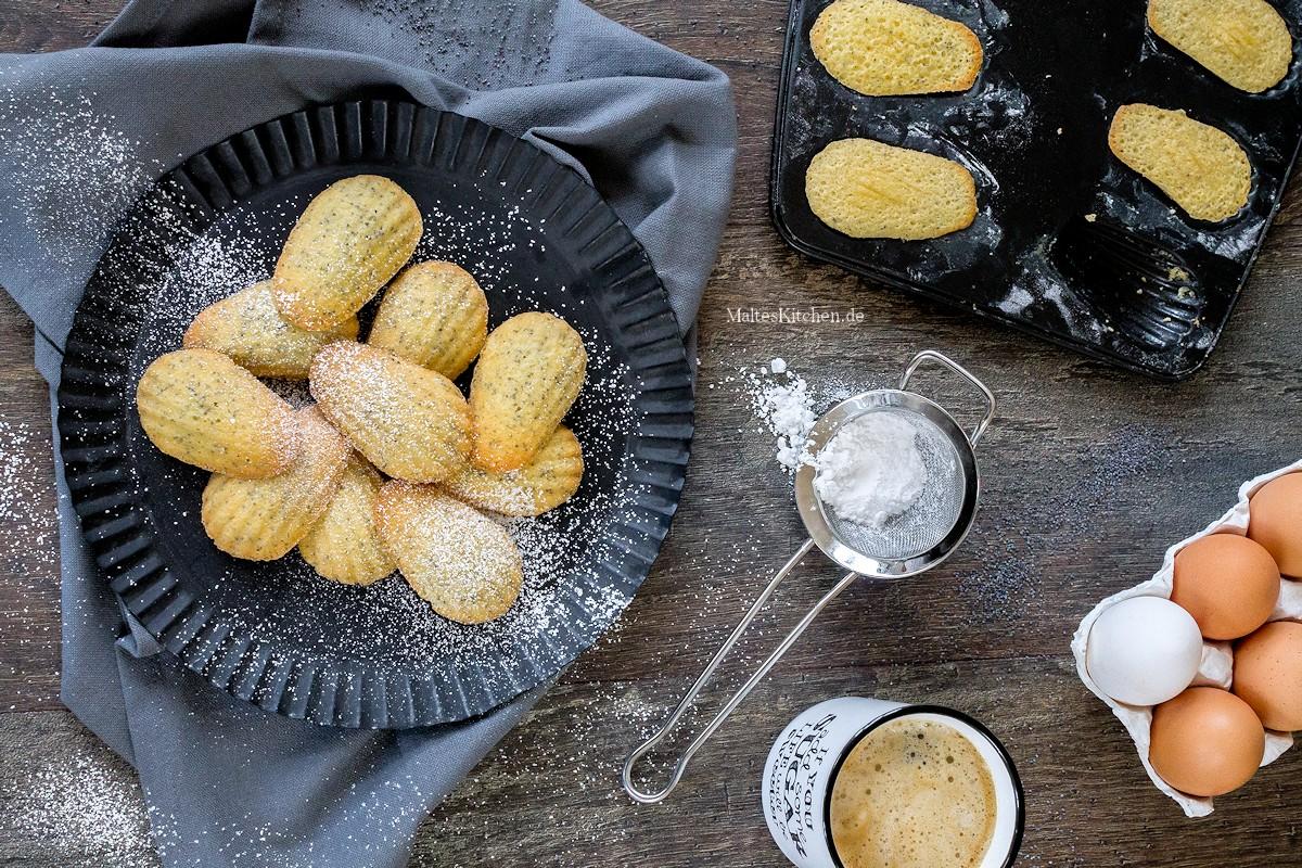 Rezept Madeleines mit Mohn und Zitrone