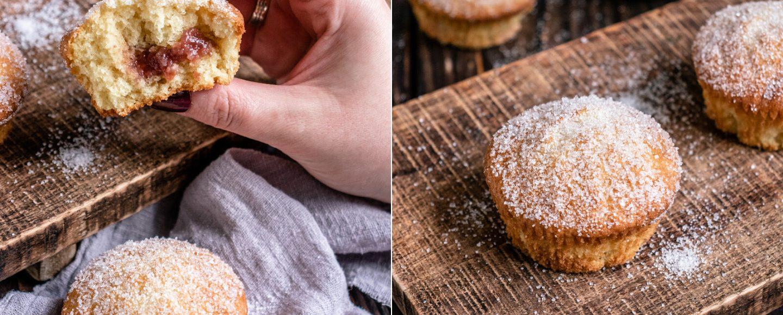 Rezept für mit Marmelade gefüllte Muffins Berliner Art