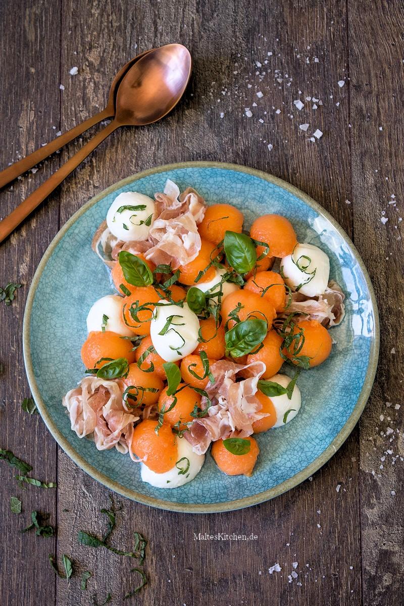 Rezept Melonen-Mozzarella-Salat mit Schinken