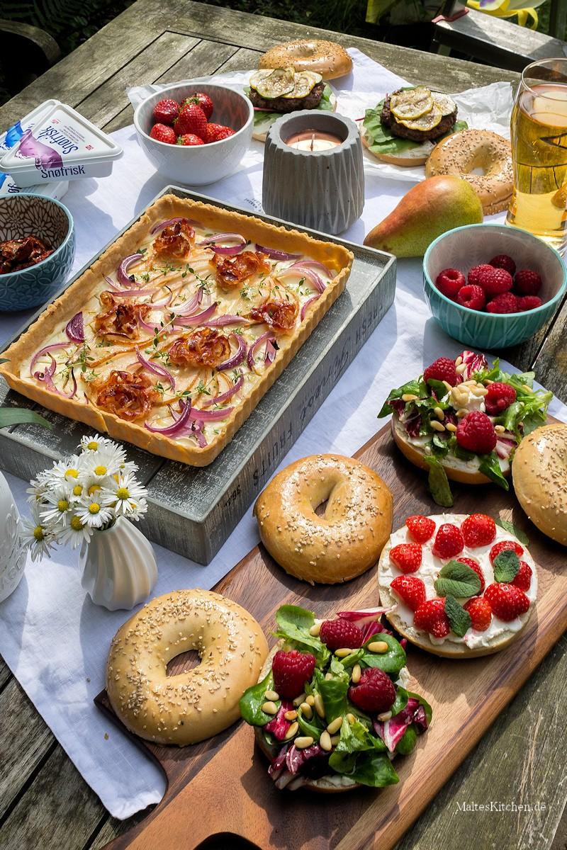 Picknick mit Tarte und Bagels!