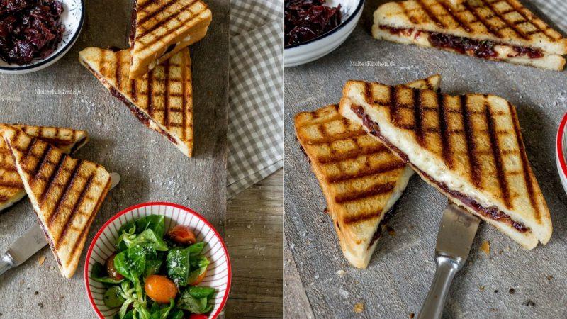 Rezept Sandwich mit Zwiebel-Chutney und Cheddar