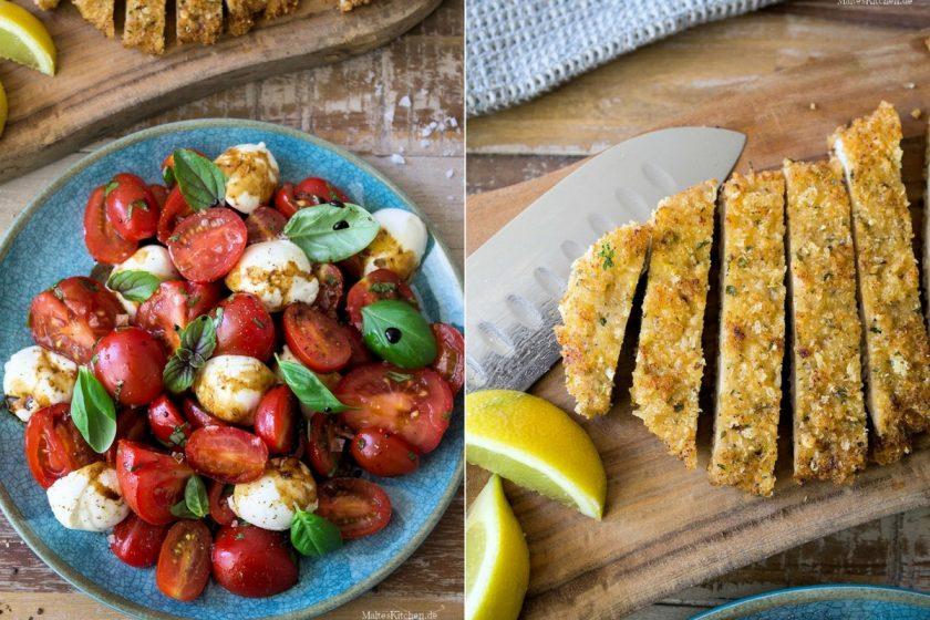 Rezept für Parmesanschnitzel mit Tomatensalat