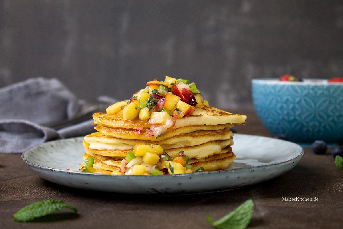 Rezept für Quark-Pancakes mit Nektarinen