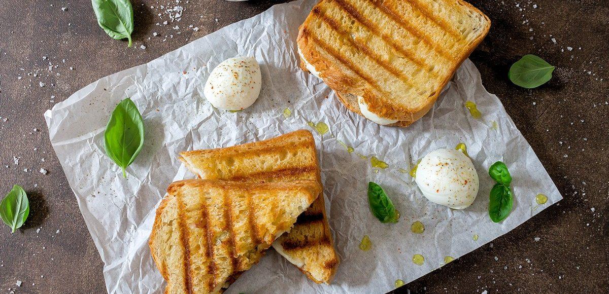 Sandwich mit Pesto & Mozzarella