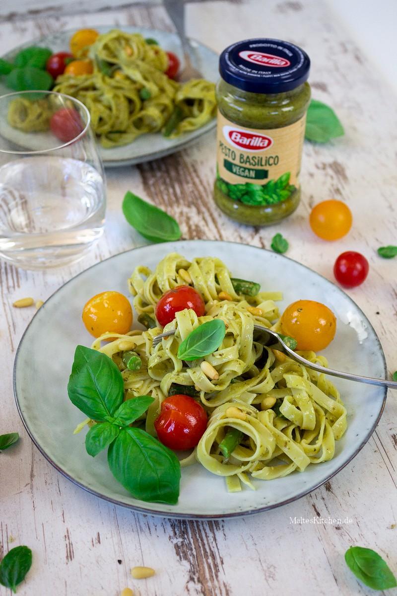 Tagliatelle mit veganem Pesto von Barilla