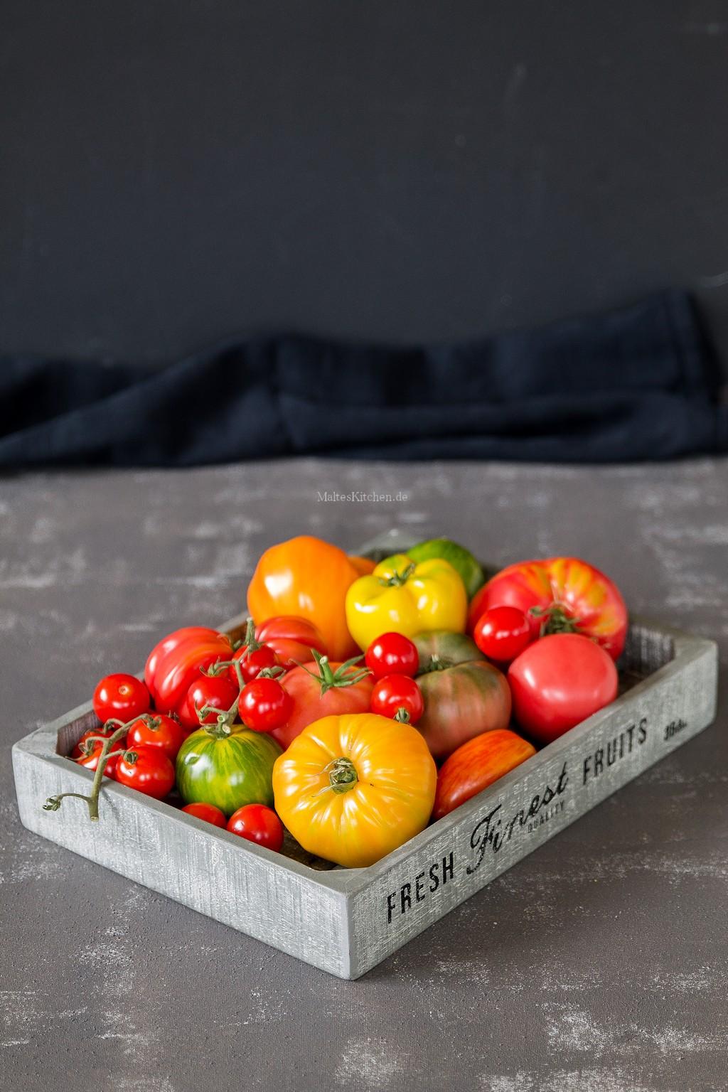 Wunderschöne bunte Tomaten