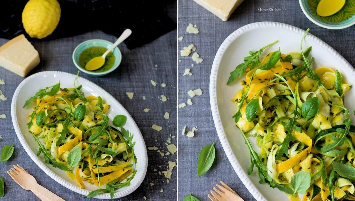 Rezept für einen Zucchinisalat mit Minze