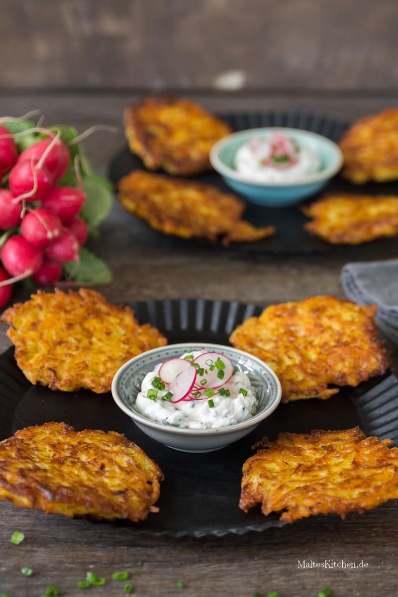 Knusprige Kartoffel-Kürbis-Puffer