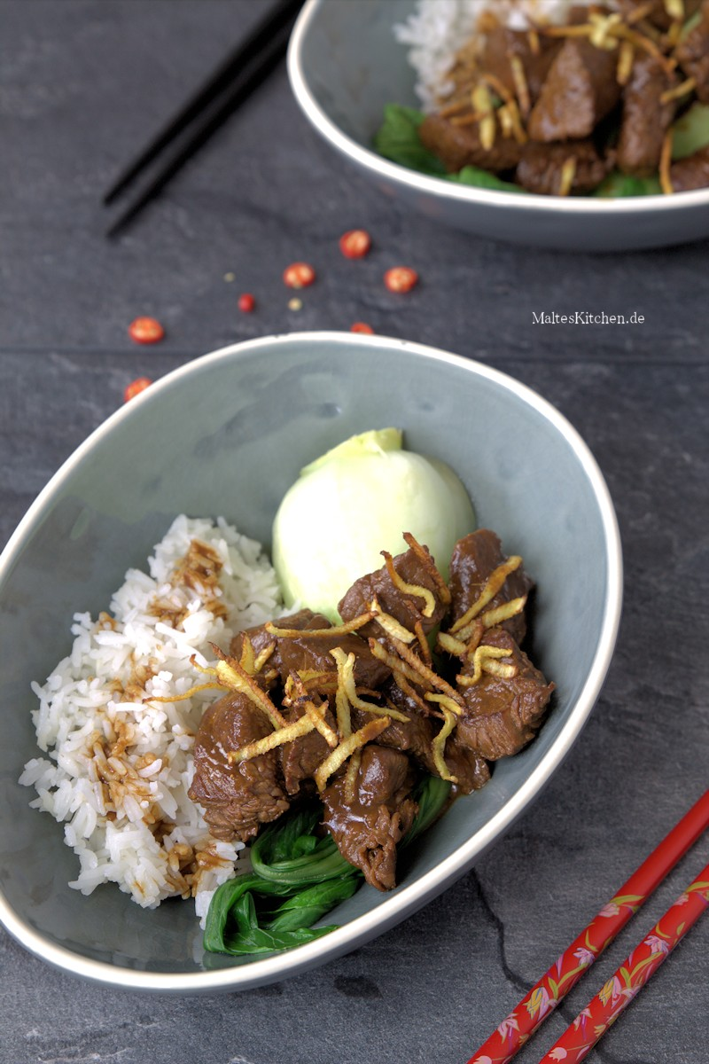 Ingwer-Fleisch nach Jamie Oliver Rezept