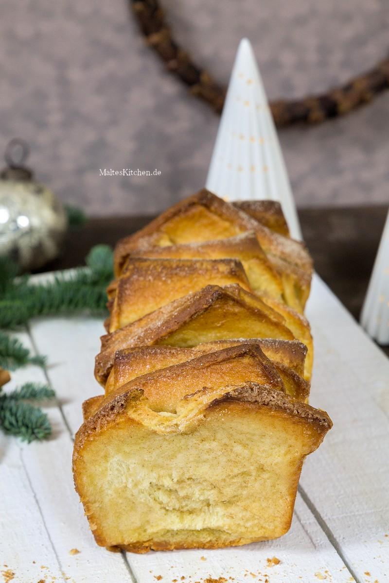Einfach leckeres Zupfbrot mit Hefe, Zimt und Zucker
