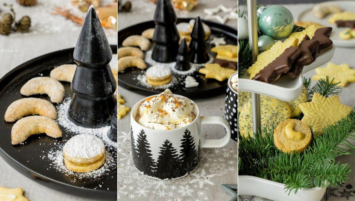 Weihnachtsplätzchen Zitronentaler und Walnuss-Kipferl