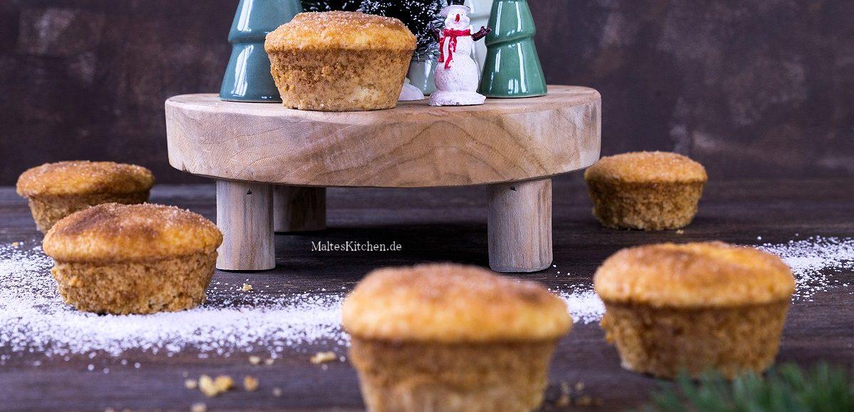 Rezept für Buttermilch Muffins mit Zimt und Zucker