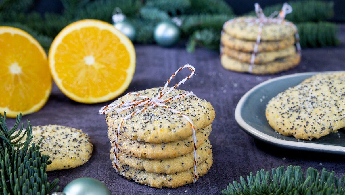Rezept Weihnachtsplätzchen für Orangen-Mohn-Taler