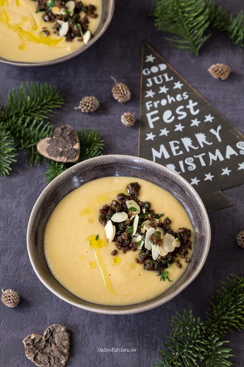 Cremige Pastinaken-Madel-Suppe als Vorsuppe