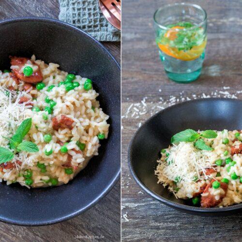 Rezept Risotto mit Chorizo und Erbsen