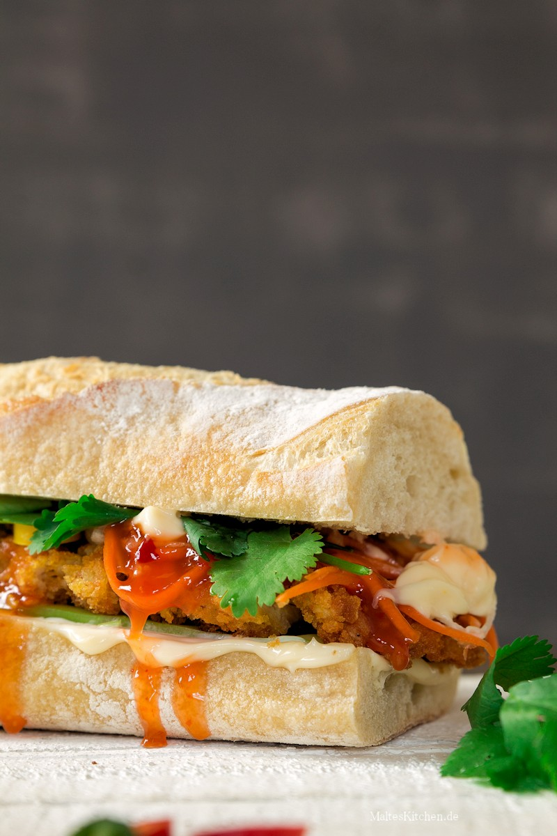 Banh Mi Sandwich mit Schnitzel