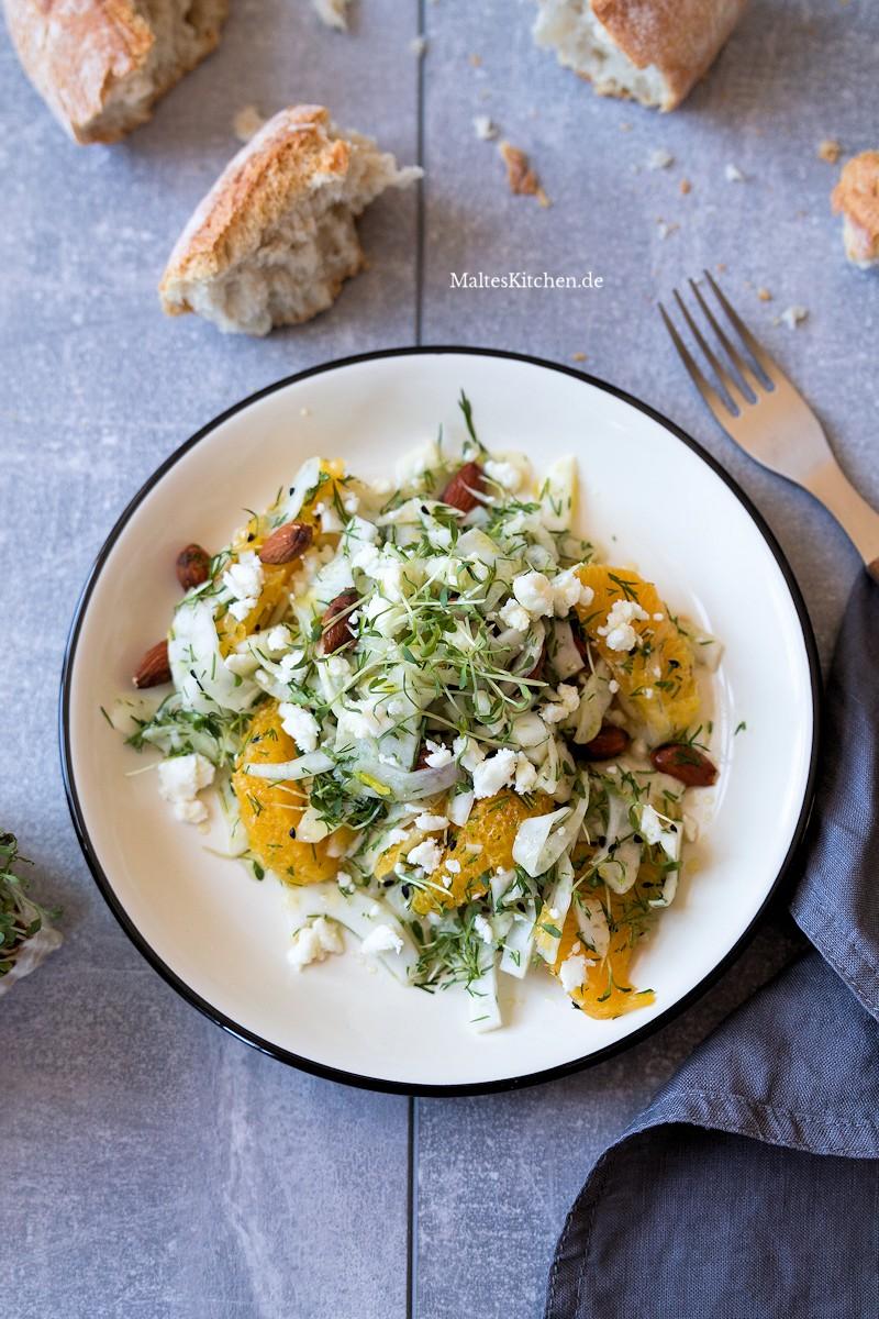 Fenchelsalat mit Orangen und Feta
