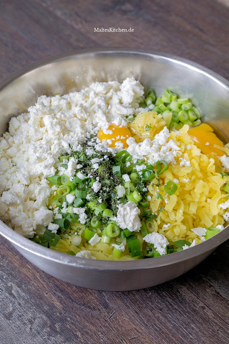Kartoffelmasse für Kartoffel-Feta-Taler