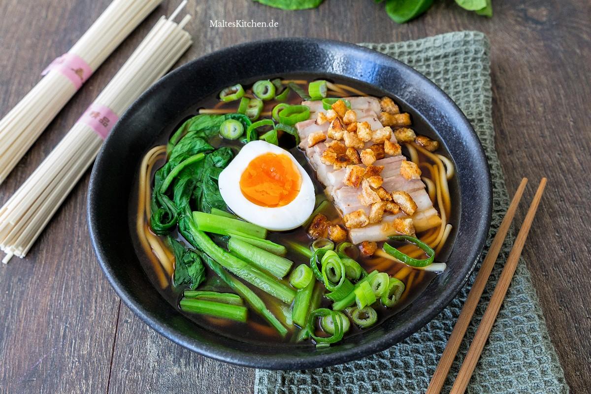 Rezept Shoyu-Ramen mit Schweinebauch