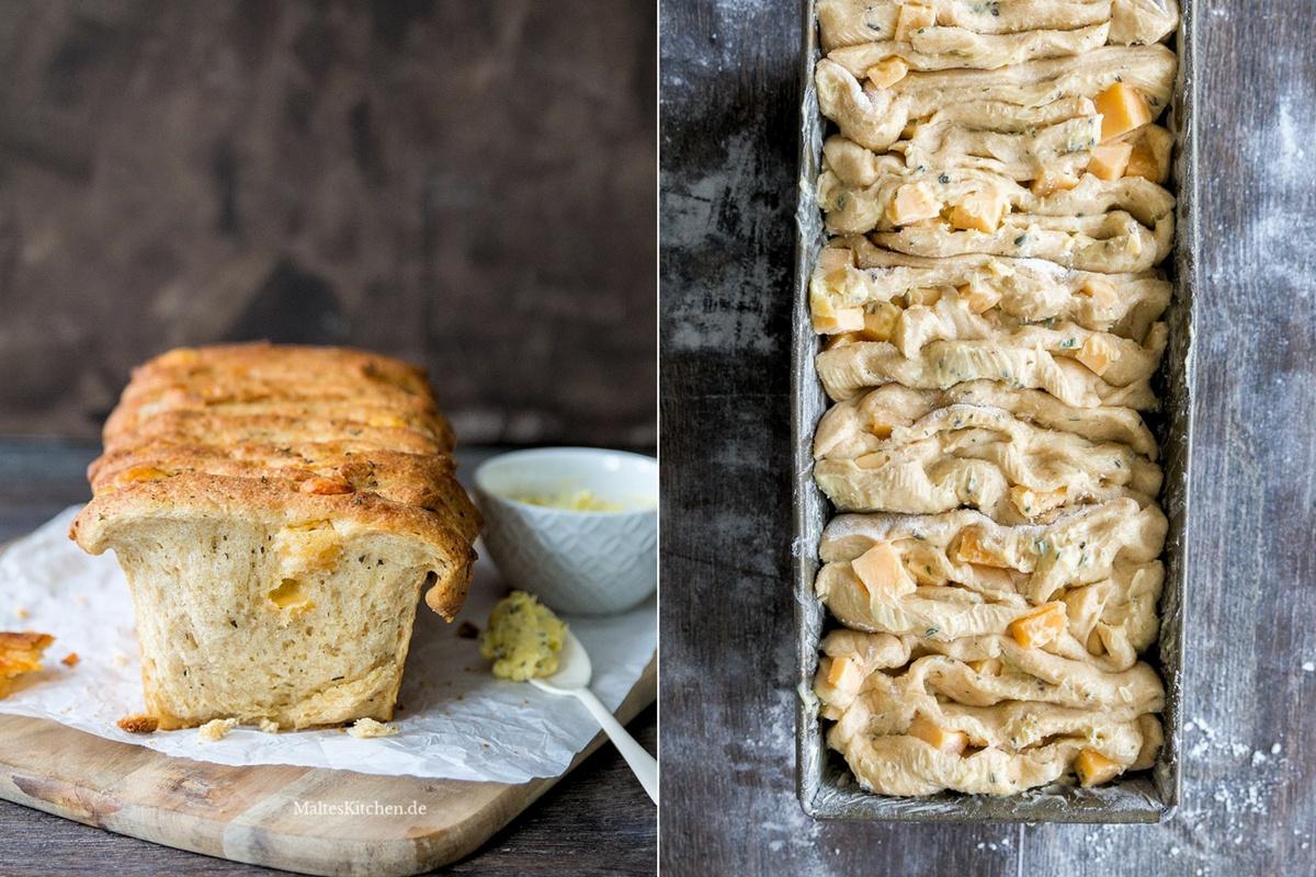 Rezept Zupfbrot mit Käse und Käruterbutter