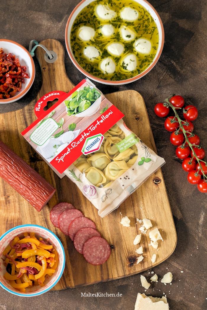 Zutaten Tortelloni-Salat Steinhaus Tortelloni