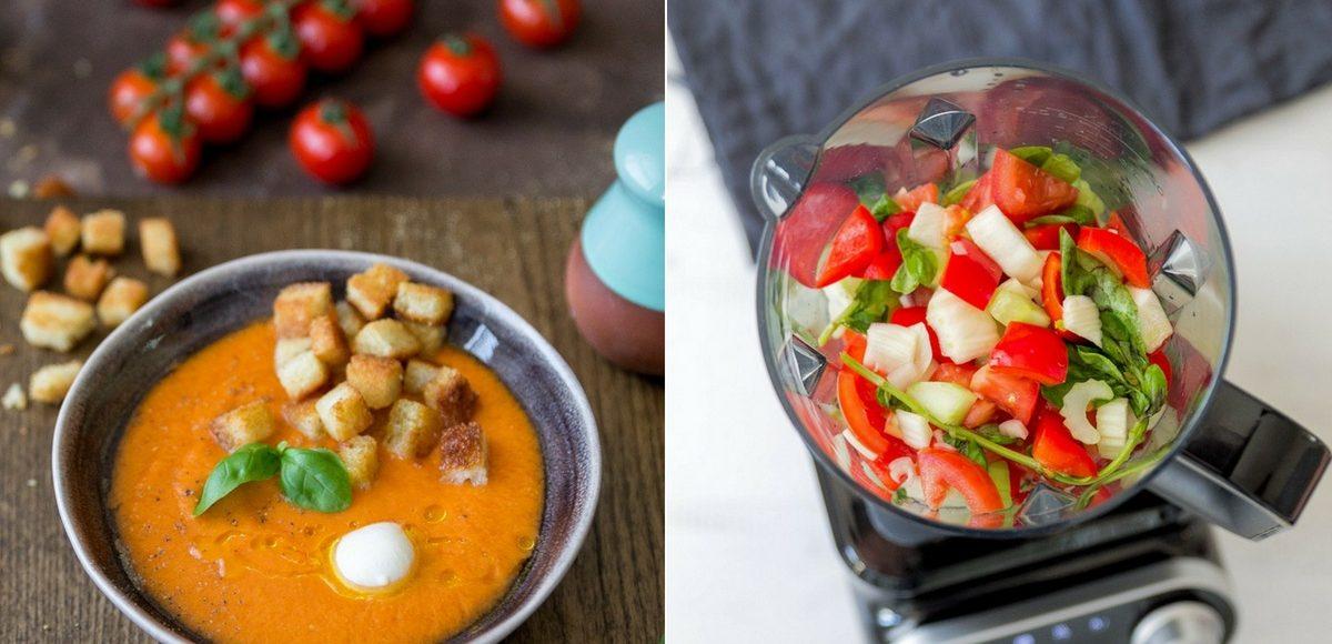Rezept für eine erfrischende Gazpacho