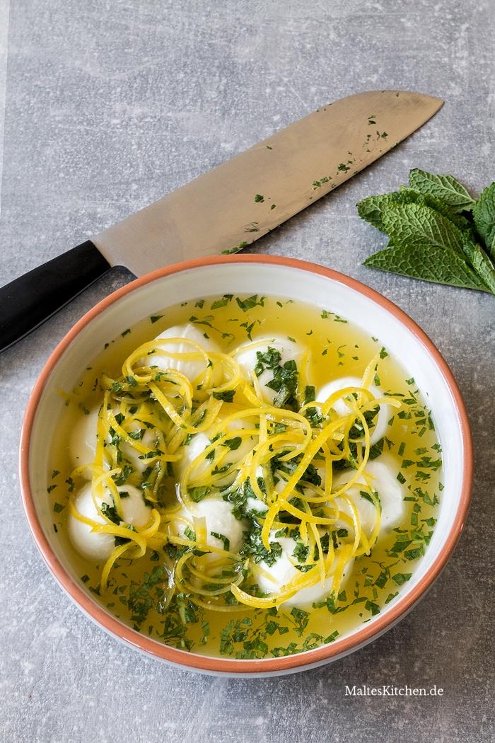 Mozzarella-Zitronen-Marinade