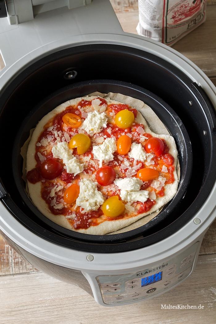 Pizza in der VitAir Turbo Heißluftfritteuse von Klarstein