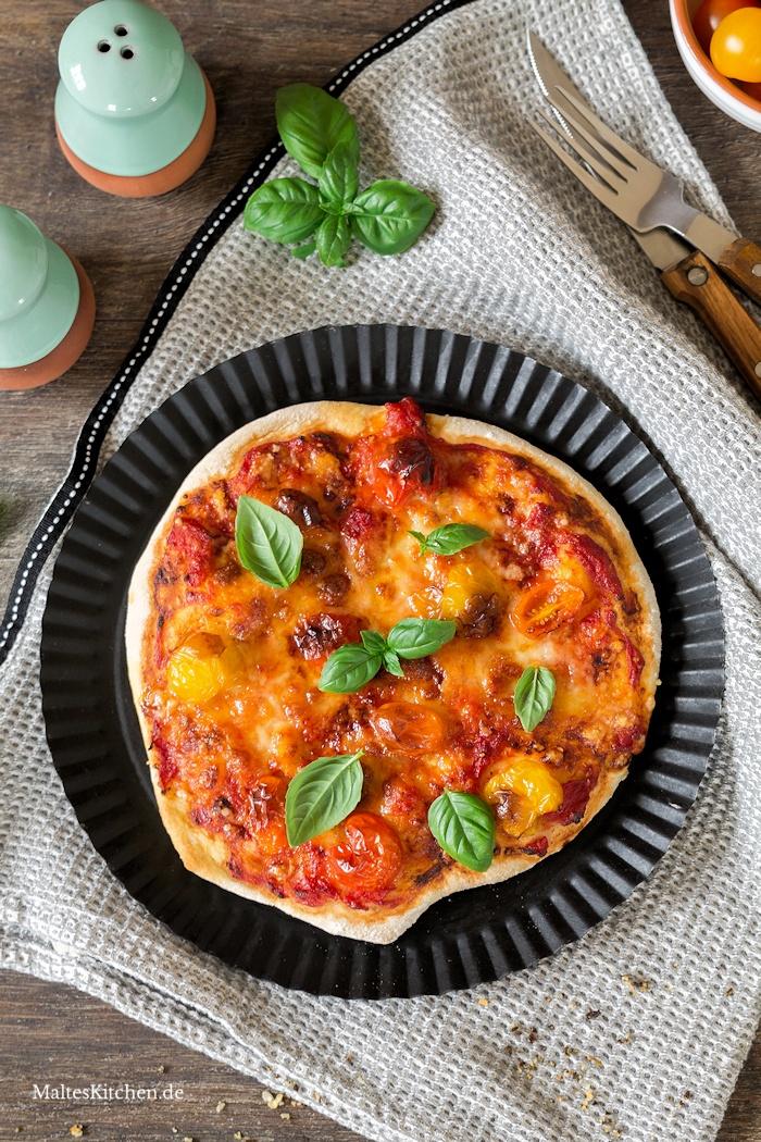 Pizza aus der Klarstein VitAir Heißluftfritteuse