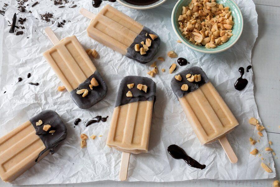 Rezept Erdnussbutter-Bananen-Popsicles