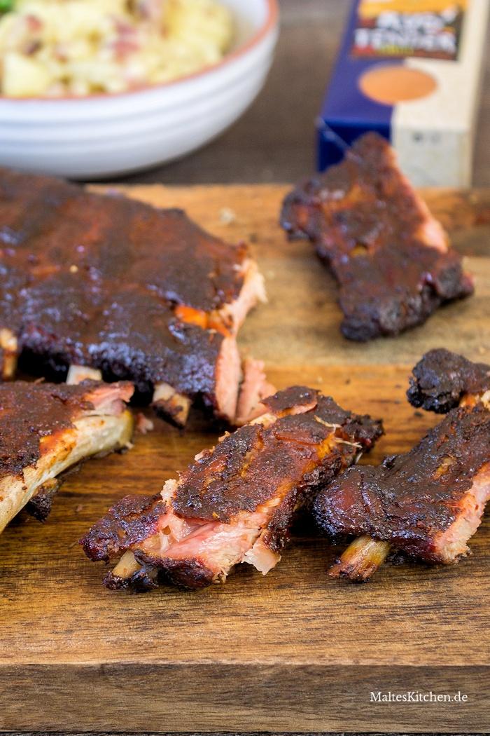 Saftige Spare Ribs mit Barbecue-Sauce und Rub von Sonnentor