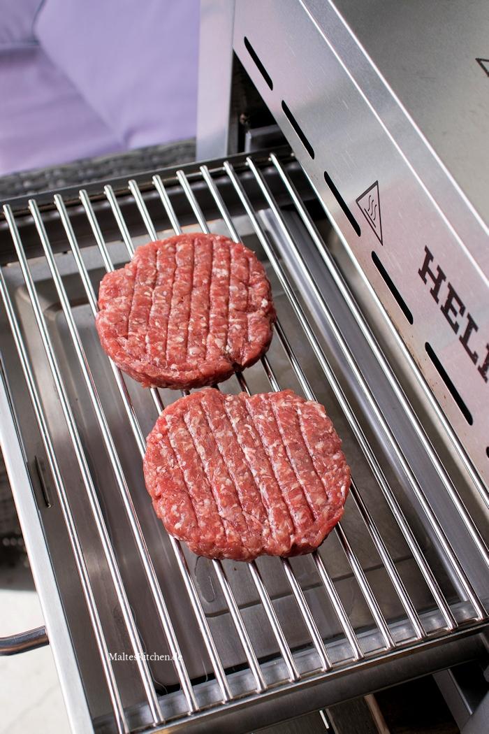 Burger Pattys auf dem Meateor Helios