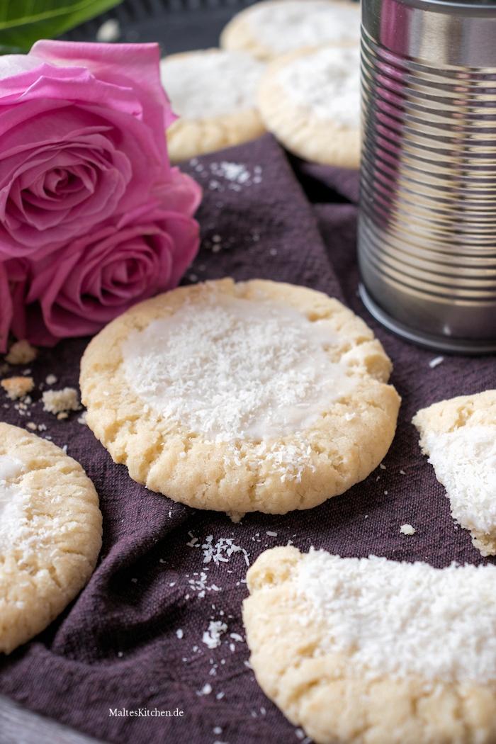 Kokos-Cookies mit Kokosflocken