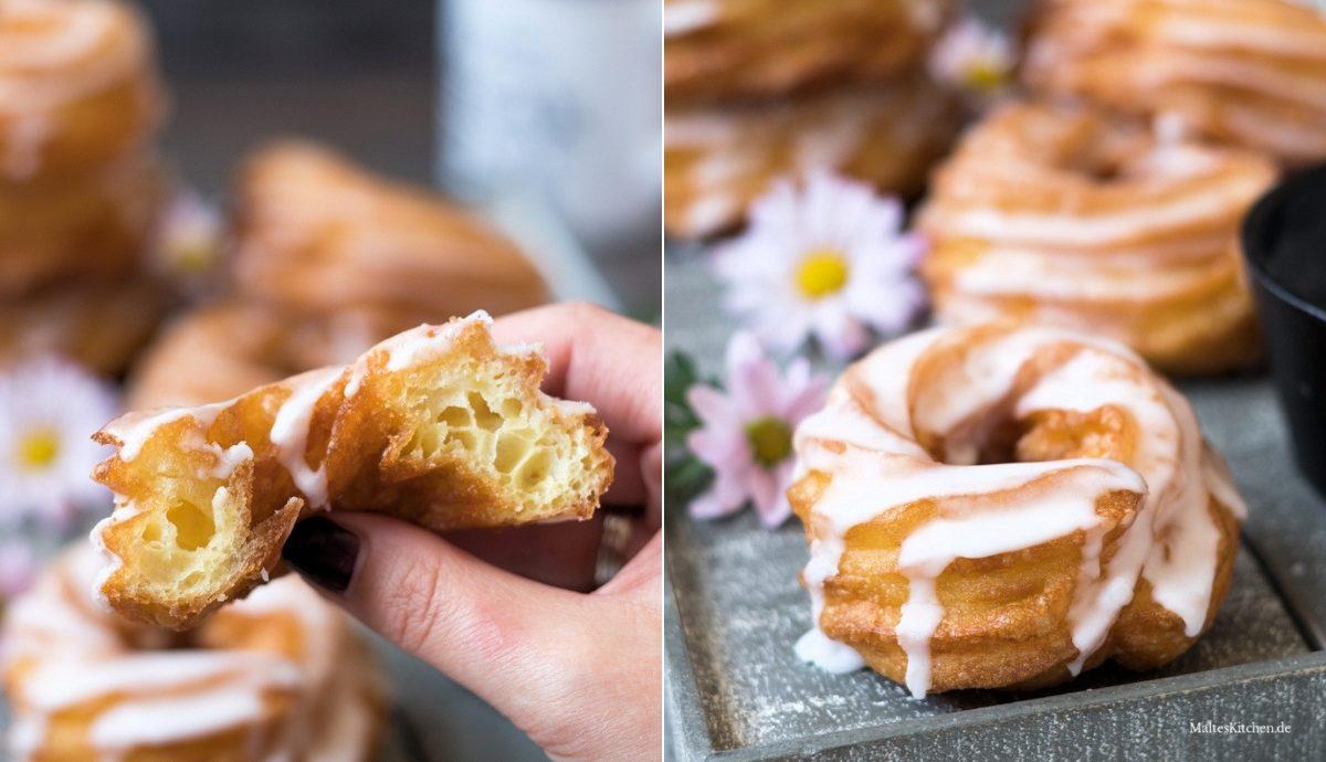 Rezept für selbstgemachte Spritzkuchen mit Zuckerguss
