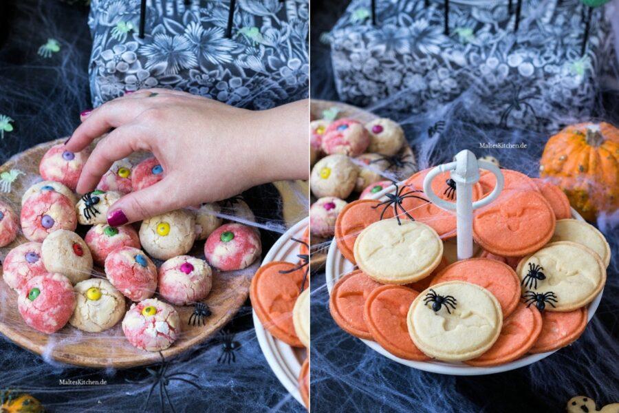 Rezept für Halloween Augen-Cookies und Fledermaus-Kekse