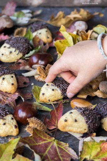 Leckere Igel Kekse für die Kleinen