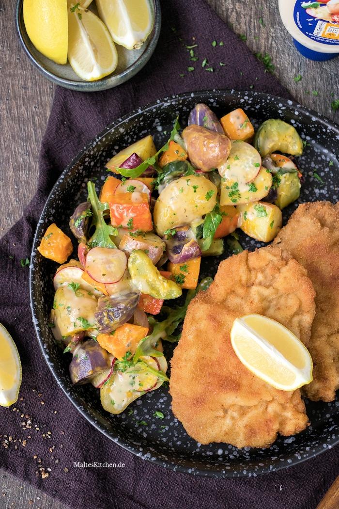 Kartoffel-Kürbis-Salat aus dem Ofen