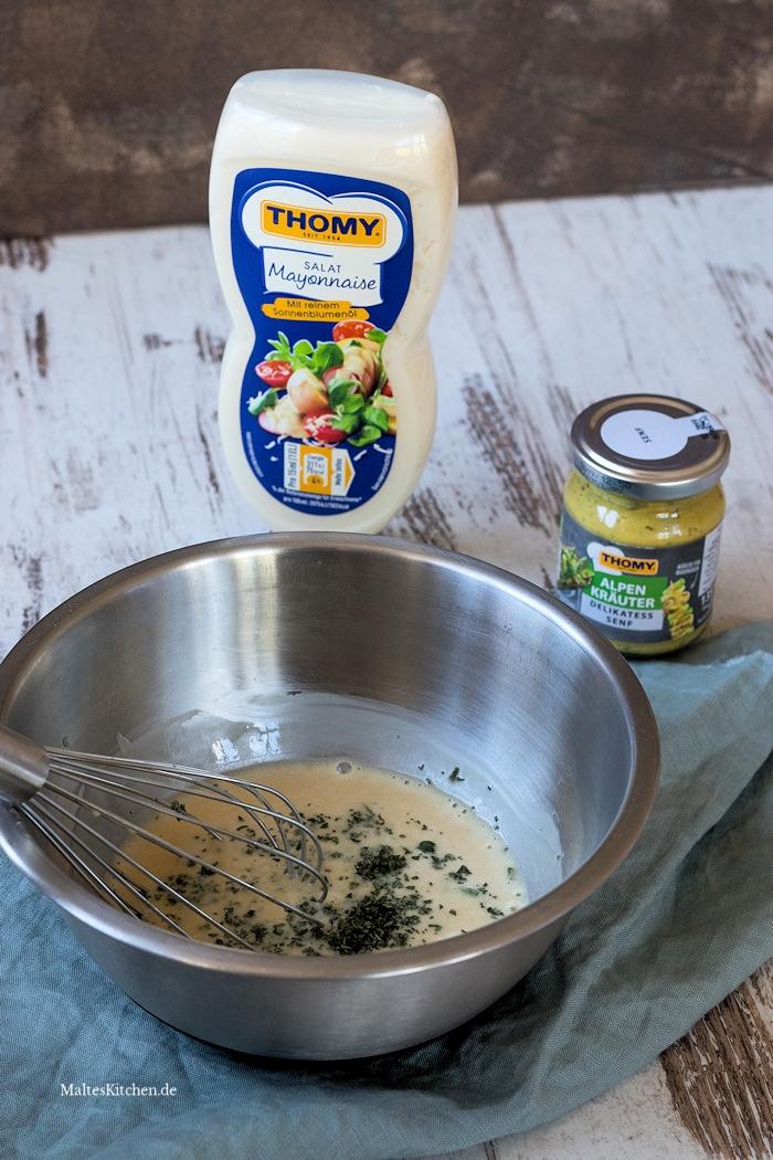 Dressing Kartoffel-Kürbis-Salat mit Thomy Salatmayonnaise