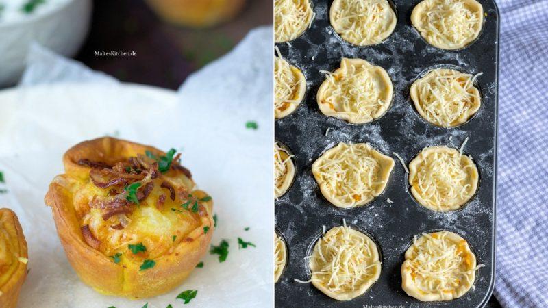 Rezept für Mini-Kürbis-Quiches mit Speck