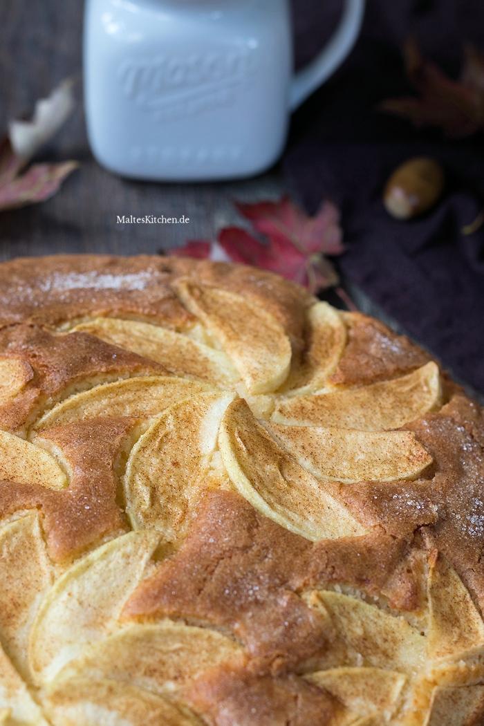 Apfelkuchen aus Rührteig