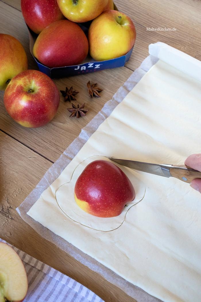 Blätterteig Äpfel