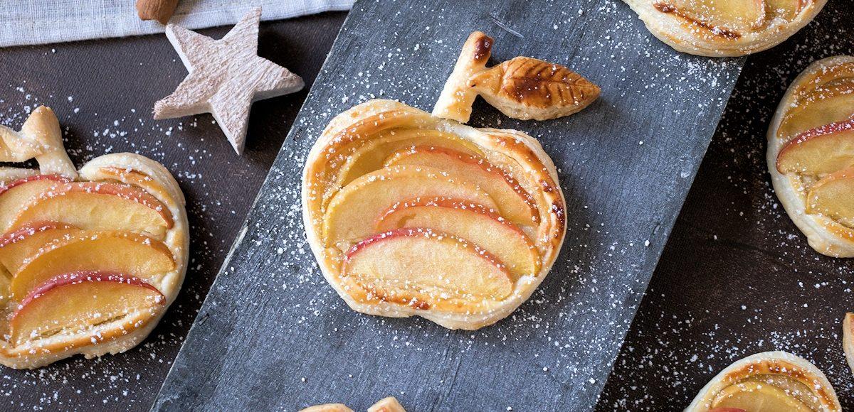 Rzept für süße Äpfel aus Blätterteig mit Marzipancreme